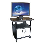 "Flat Panel Cart with Cabinet - 40""H, M13145"
