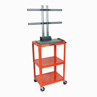 Adjustable Height Metal LCD Cart with Flat Panel Mount, M13195