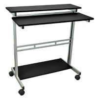 "Adjustable Height Mobile Desk - 39.4""W, M13246"