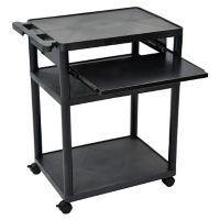 "3 Shelf Mobile Presentation Cart - 38""H, M13247"