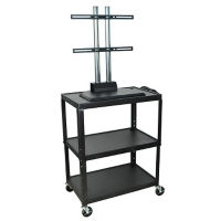 Adjustable Height AV Cart with Monitor Bracket, M16320