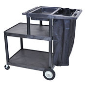 Three Shelf Cleaning Service Cart, V21439