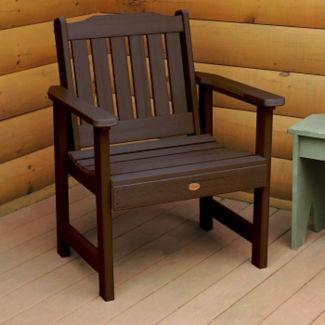 Synthetic Wood Vertical Slat Outdoor Garden Chair, F10005