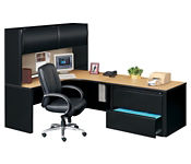 Corner Workstation with Right Hutch, D35176