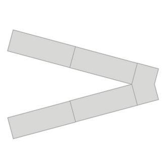 V Shaped Nesting Flip Top Table Set, T11571