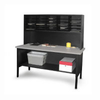 Mailroom Table with Riser and 25 Slot Organizer, B30258