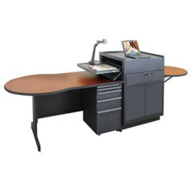 Teachers Media Desk with Steel Door, D31181