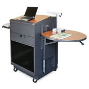 Mobile Lectern with Acrylic Door, M13214