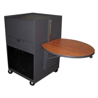 Mobile Media Cart with Acrylic Door, M13215