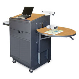 Mobile Lectern with Steel Door, M13221