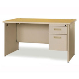 Compact Single Pedestal Desk, D35135