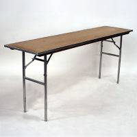 "Plywood Folding Table - 18""Dx72""W, T10092"