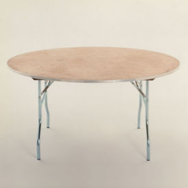"Round Plywood Folding Table - 48"" Diameter, T10098"