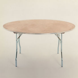 "Round Plywood Folding Table - 60"" Diameter, T10099"