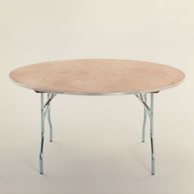"Round Plywood Folding Table - 72"" Diameter, T10100"