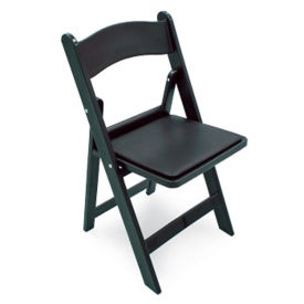 Black Poly Resin Folding Chair, C52029