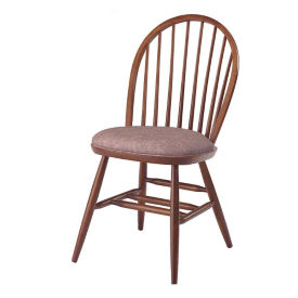 Wood Side Chair with Vinyl Seat, K00075