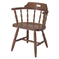 Solid Wood Captains Chair with Full Arms, K00079