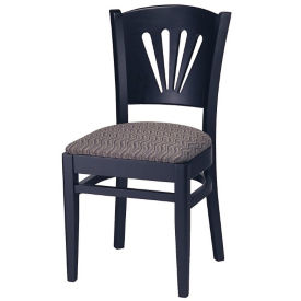 Fan Wood Back Chair with Vinyl Seat, K00085