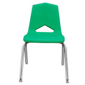 "V Back Student Chair with 12""H Chrome Frame, C70455"