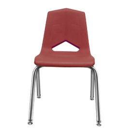 "V Back Student Chair with 16""H Chrome Frame, C70457"