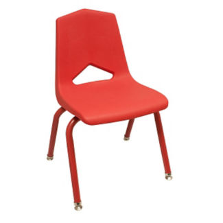 "V Back Student Chair with 14""H Color Frame, C70461"