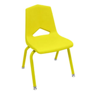 "V Back Student Chair with 16""H Color Frame, C70462"