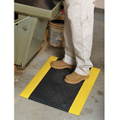 "Safe Step Anti-Fatigue Mat with Safety Border 24""W x 36""D x 1""H, W60193"