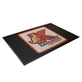 "WaterGuard Custom Scraper Mat with Logo 48""W x 72""D, W60566"