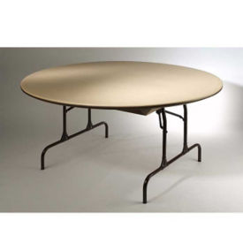 "Plastic Round Folding Table 60"" Diameter, T10285"