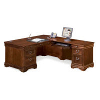"Right Return L-Desk - 85"" D x 72"" W, D30144"