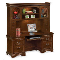 "Executive Credenza with Hutch - 24"" D x 72"" W, D30149"