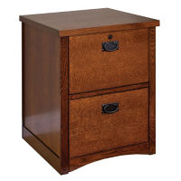 Mission Style Two Drawer Vertical File , L40787