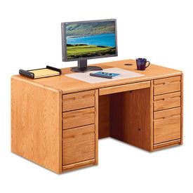 "Double Pedestal Desk 60"", D30306"