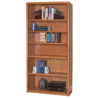 Medium Oak Six Shelf Bookcase, B30382