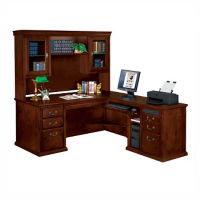 Executive L-Desk with Right Return and Hutch, D35169