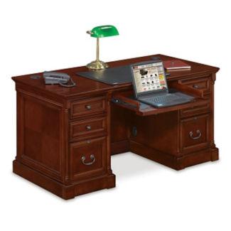 """Double Pedestal Computer Desk - 30""""D x 60""""W, D35259"""