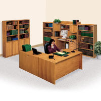 L-Desk with Right Return Office Set, D35303