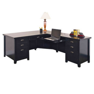 Contemporary L-Desk with Right Return, D35322