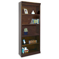 "Five Shelf Contemporary Bookcase - 72"" H, B30392"