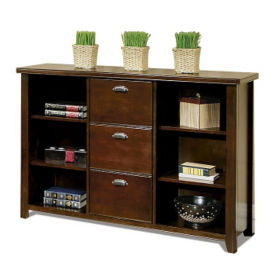 Three Drawer File with Bookcase, B30386