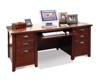 Executive Desk with Glass Doors on Front, D31159