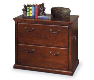 Burnished Oak Two Drawer Lateral File, B30389