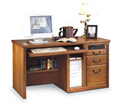 Deluxe Wheat Computer Desk, D30114