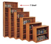 Medium Oak Seven Shelf Bookcase, B30380