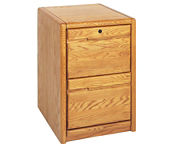 Medium Oak Two Drawer File, L40710