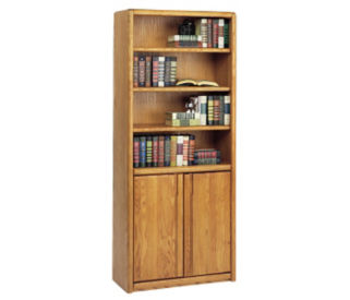 Bookcase with Lower Doors, B30381