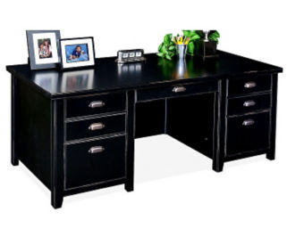 "Double Pedestal Executive Desk - 32"" D x 68-1/4"" W, D35069"