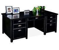 """Double Pedestal Executive Desk - 32"""" D x 68-1/4"""" W, D35069"""