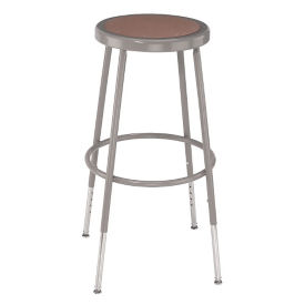 "Adjustable Height Hardboard Seat Stool - 25-33""H , C70492"